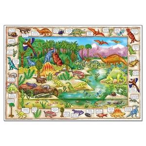 Puzzle in limba engleza Lumea dinozaurilor (150 piese) [1]