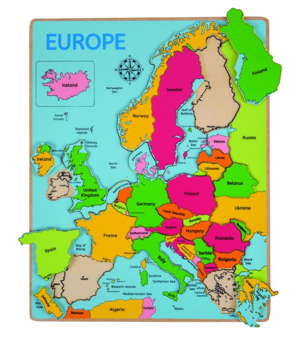 Puzzle incastru harta Europei [0]