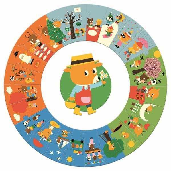 Puzzle circular Anotimpurile 1