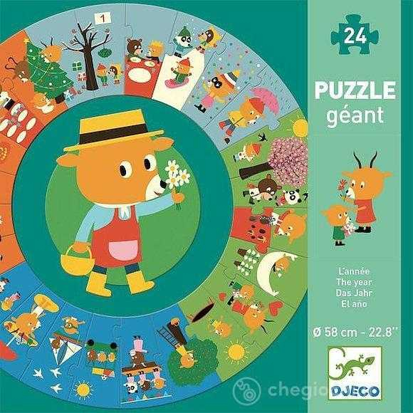 Puzzle circular Anotimpurile 0