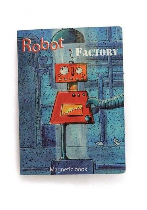 Puzzle magnetic cu roboti 0