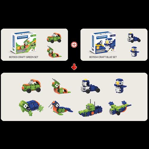Set de construit Clicformers- Craft verde 25 de piese 3