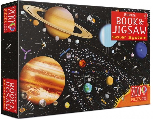 solar system book and jigsaw 0