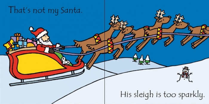 That's not my Santa carte senzoriala de Crăciun 1