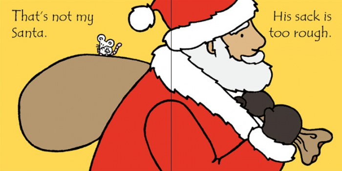 That's not my Santa carte senzoriala de Crăciun 2