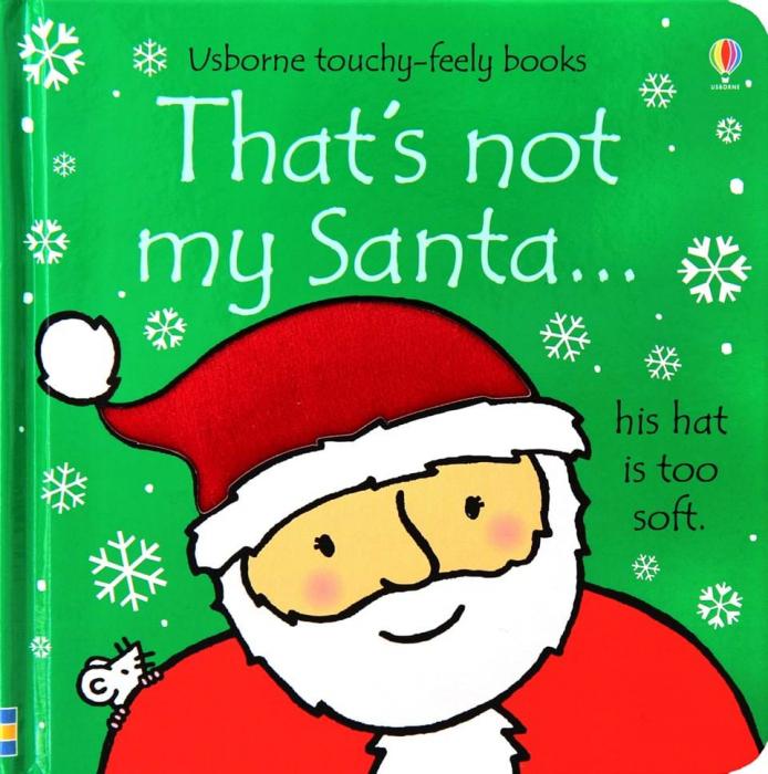 That's not my Santa carte senzoriala de Crăciun 0