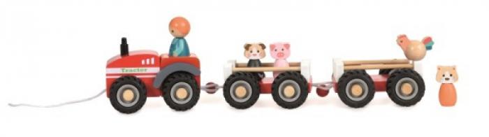 Tractor cu remorca si figurine 0