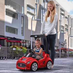 Vehicul rosu TURBO COUPE FOOT-TO-FLOOR 2