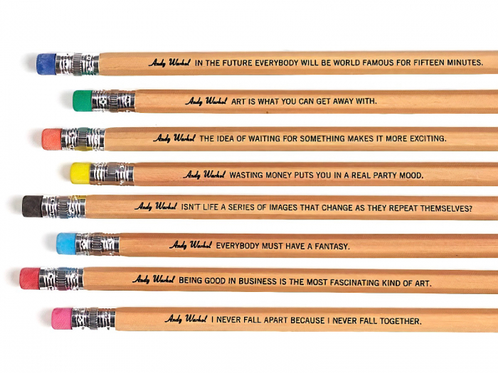 Andy Warhol Philosophy set 8 pencils 0