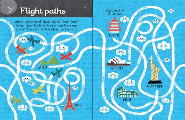 Travel Puzzles carduri de tipul scrie-sterge 2