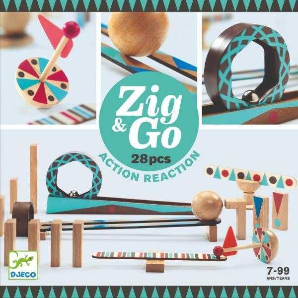 ZigGo set de constructie trasee 28 piese 0