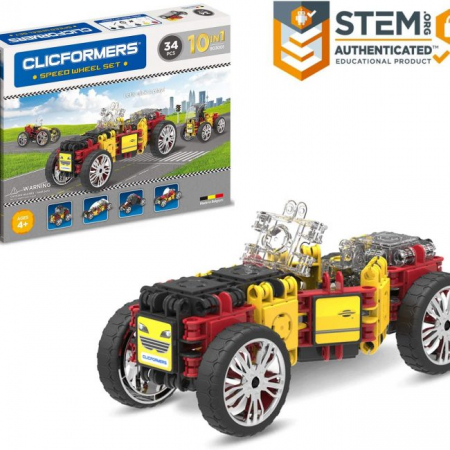 Set de construit Clicformers- Masini de viteza, set 34 piese4