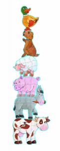 Puzzle gigant animale de ferma1