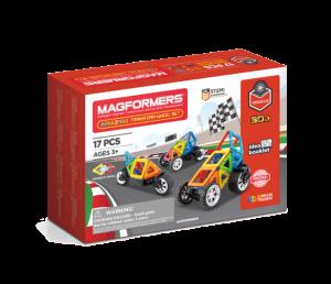 Set magnetic de construit- Magformers Vehicule, 17 piese0