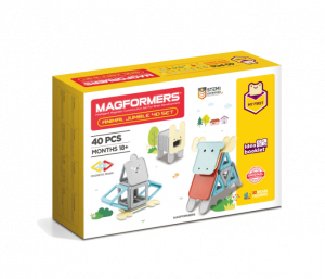Set magnetic de construit- Magformers Animale, 40 piese0