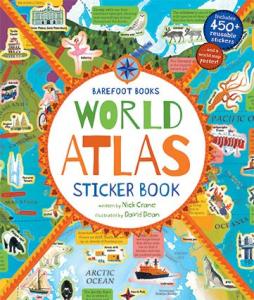 World Atlas Sticker Book0