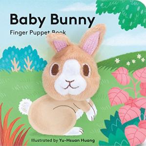Baby Bunny Finger Puppet Book - Carte cu păpușă de deget iepuras0