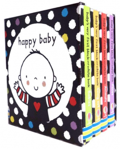 Set cărți bebeluși Black and White Little Library0