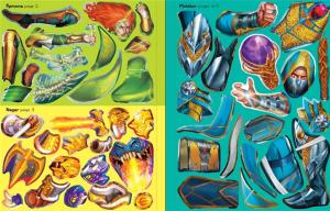 Build your own fantasy warriors sticker book2