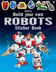 Build your own robots sticker book - carte despre roboti cu autocolante0