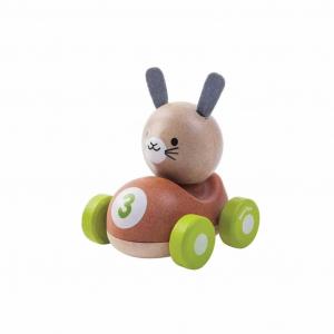 Bunny Racer - Masinuta de lemn cu iepuras0
