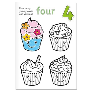 Carte de colorat cu activitati in limba engleza si abtibilduri Invata numerele NUMBER [1]