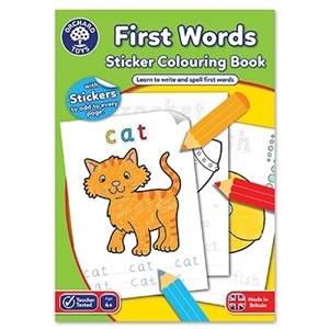 Carte de colorat cu activitati in limba engleza si abtibilduri Primele cuvinte FIRST WORDS0