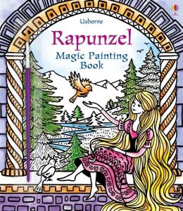 Carte de pictat cu apa - Rapuzel Magic Painting Book0