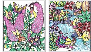 Carte de pictat cu apa - Fairy Gardens Magic Painting1