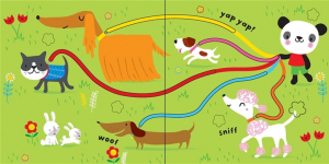 Baby's very first fingertrail play book cats and dogs1