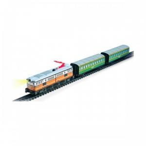 Trenulet electric calatori cu far si macheta (clasic)2