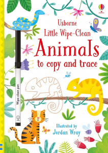 Animals to copy and trace Wipe Clean - caiet cu activități scrie-șterge0