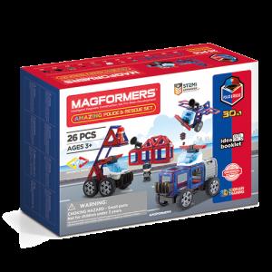 Set magnetic de construit- Magformers masini de interventie0