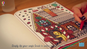 Magic Painting Book - Christmas1
