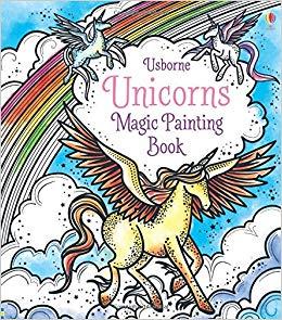 Carte de pictat cu apa - Magic Painting Unicorns0