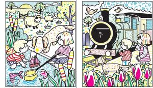 Carte de pictat - Poppy and Sam magic painting1