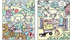 Carte de pictat - Poppy and Sam magic painting2