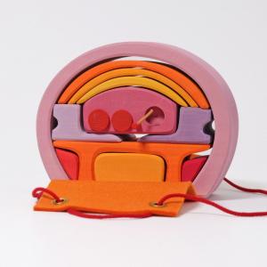 Mini căsuța păpușii, roz portocaliu0