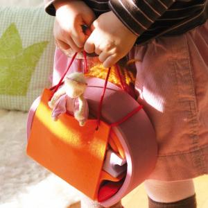 Mini căsuța păpușii, roz portocaliu1