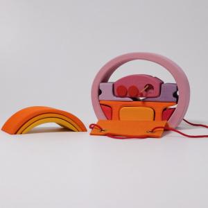 Mini căsuța păpușii, roz portocaliu2