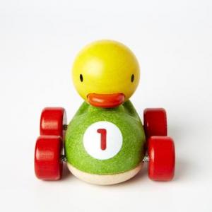 Duck racer - masinuta de lemn cu ratusca1