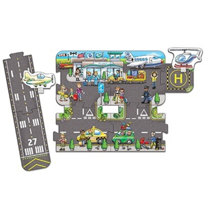 Puzzle gigant de podea Aeroport (9 piese) GIANT ROAD EXPANSION PACK AIRPORT1