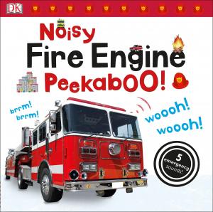 Noisy Fire engine Peekaboo - carte cu clapete sonore masina de pompieri0