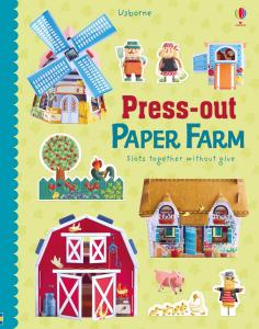 Press-out Paper Farm - Ferma de carton prin asamblarea pieselor0