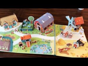 Press-out Paper Farm - Ferma de carton prin asamblarea pieselor1