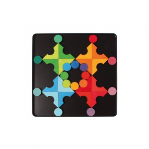 Puzzle magnetic cercuri si patrate- Grimm's Spiel und Holz Design2