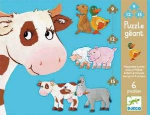 Puzzle gigant animale de ferma0
