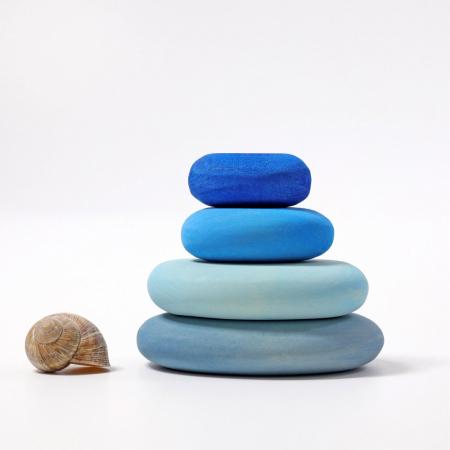 Forme in echilibru oval Albastru2