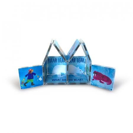 Set de constructie piese magnetice, CreateOn Magna-Tiles -  Ursule polar, ursule polar, tu ce auzi? By Eric Carle, 16 piese [2]
