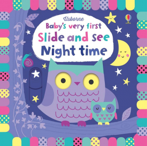 Slide and see Night Time - carte cu panouri glisante -noapte0